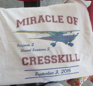 The special T-shirts made for Sunday's anniversary picnic. (Rosenberg family)