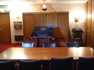 A view inside the Belfast Jewish Community shul. (Belfast Jewish Community)