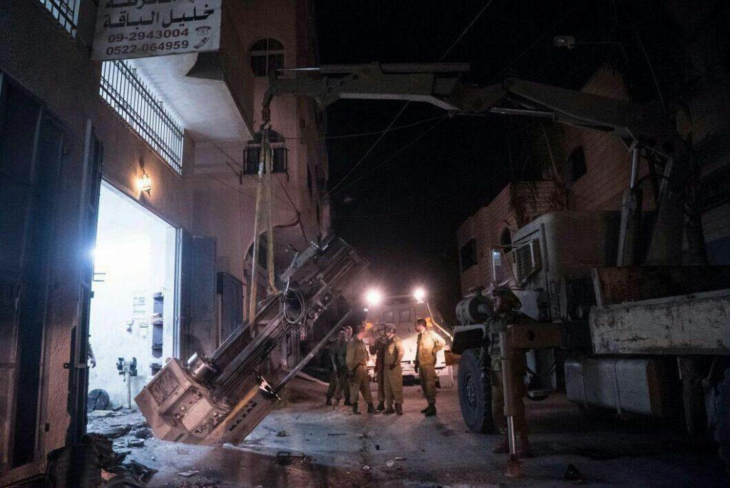 IDF soldiers during Sunday night's operation. (IDF Spokesman)