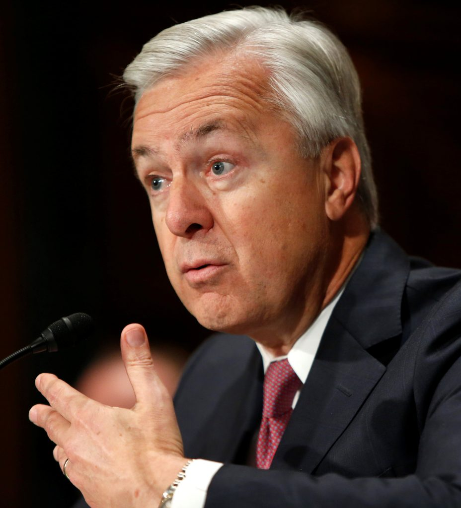 Wells Fargo CEO John Stumpf testifies before a Senate Banking Committee hearing on the firm's sales practices on Capitol Hill in Washington. (Gary Cameron/Reuters)