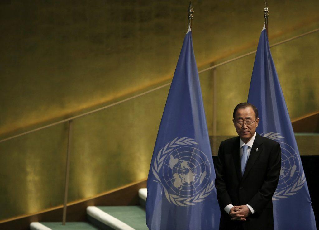 U.N. Secretary General Ban Ki-moon at United Nations headquarters in Manhattan New York. (Mike Segar/Reuters)