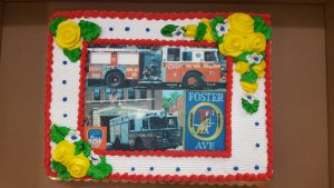 The cake presented by the Goldman family to Engine 250 this year. (Goldman family)