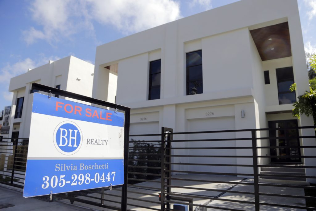 Townhouses are for sale in Miami. (AP Photo/Lynne Sladky, File)