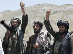 Taliban fighters in Herat province, Afghanistan, in May. (AP Photos/Allauddin Khan, File)
