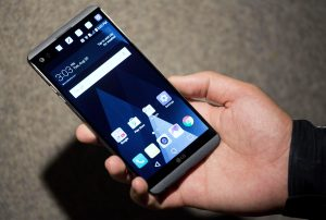 The LG V20 is demonstrated in New York last month. (AP Photo/Mark Lennihan, File)