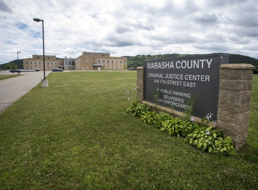 The Wabasha County Criminal Justice Center in Wabasha, Minn., where authorities accessed information on civilians through law-enforcement databases. (AP Photo/Bruce Kluckhohn)