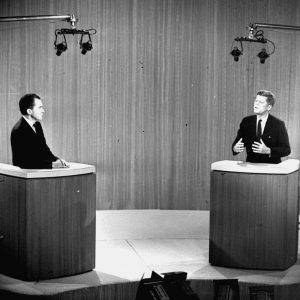 John F. Kennedy and Richard M. Nixon at the 1960 presidential debate. (AP Photo, File)