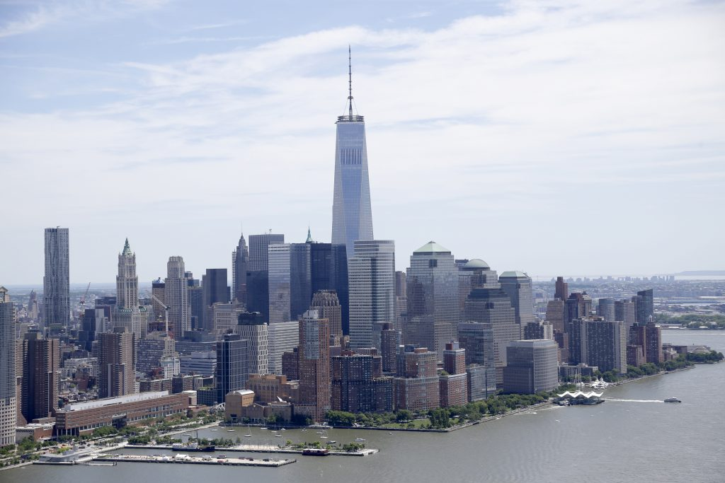 NYC skyline of lower Manhattan. (AP Photo/Seth Wenig)