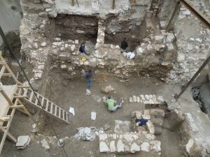 The excavation under the Tiferes Israel synagogue in the Jewish Quarter of the Old City.