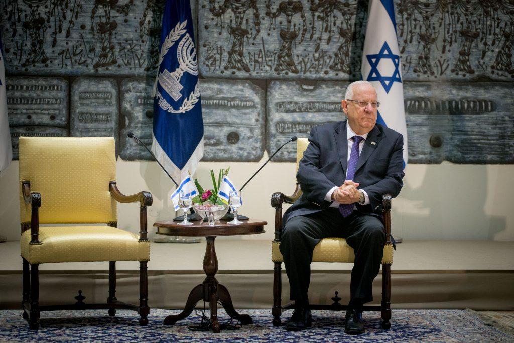 Israeli President Reuven Rivlin. (Yonatan Sindel/Flash90)