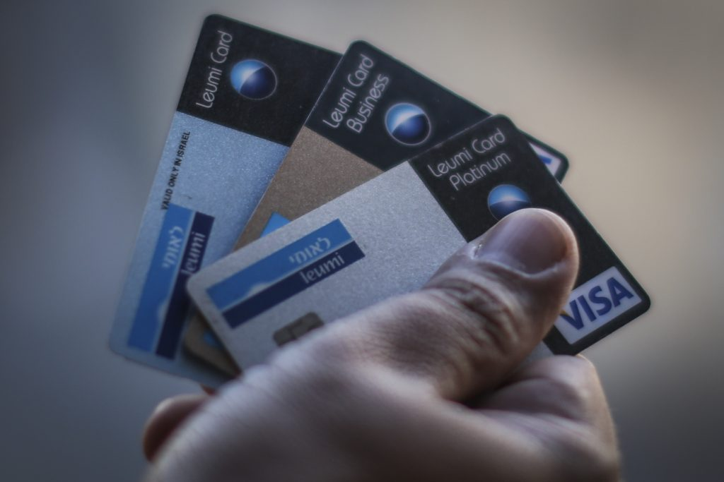 Bank Leumi credit cards (Hadas Parush/Flash90)
