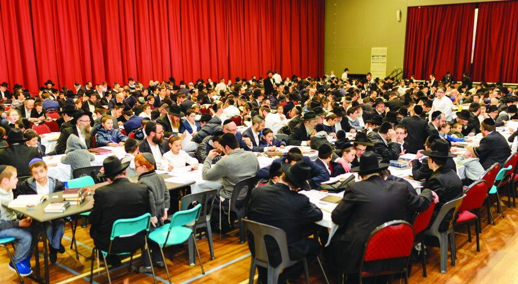 At the Melbourne Communal Avos U'banim event last Motzoei Shabbos. (Danny Weiss)
