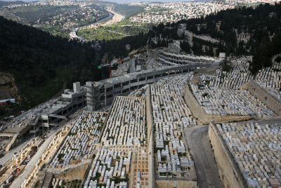 Areal view of the Har Hamenuchot cemetery in the Givat Shaul area in Jerusalem, March 13, 2015. Photo by Nati Shohat/Flash90