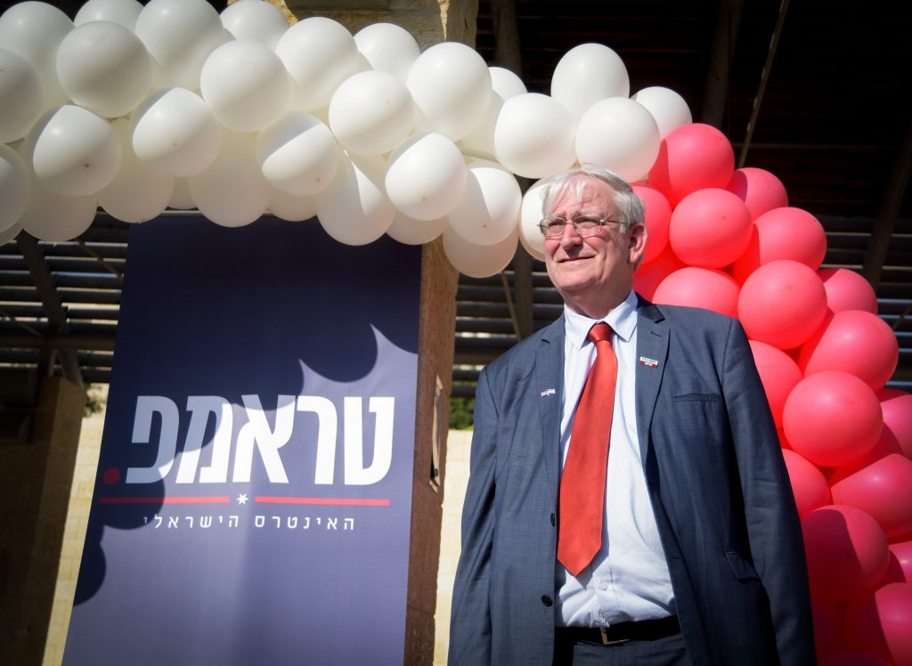 """Marc Zell, the head of Republicans Overseas Israel branch, seen at the opening of the campaign supporting US republican president candidate Dondald Trump, in Modi'in on August 15, 2016. Photo by Joe Davids/FLASH90 *** Local Caption *** ????? ?????? ?????? ??????????? ?????? ?????? ????? ????? ??????? ??????? ???""""? ????? ??????? ???? ?? ?????? ??????????? ??????"""