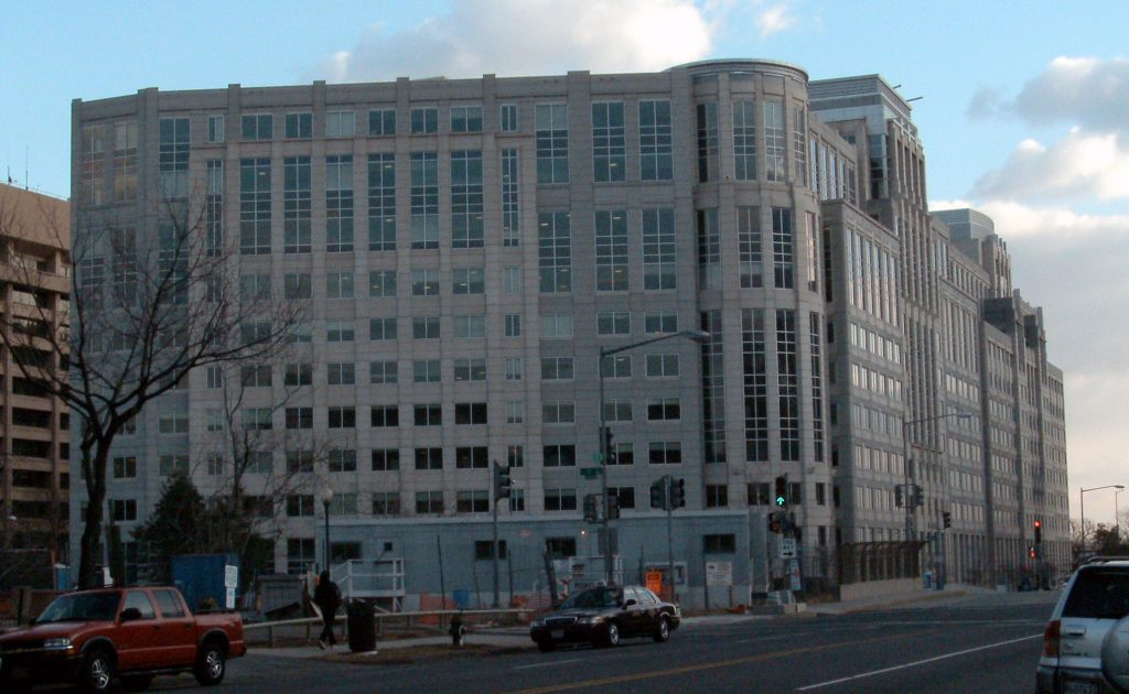 The headquarters of the U.S. Immigration and Customs Enforcement in Washington. (Wikipedia)