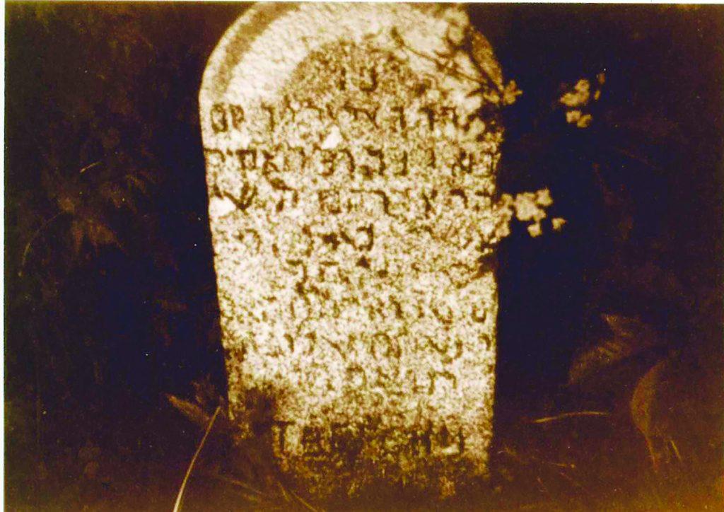 """The kever of Harav Yosef Meir Twersky, zt""""l."""