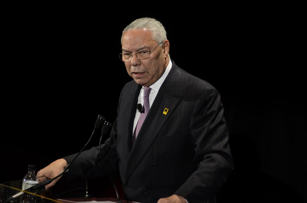 Former Secretary of State Colin Powell (AP Photo/Eric Reichbaum)