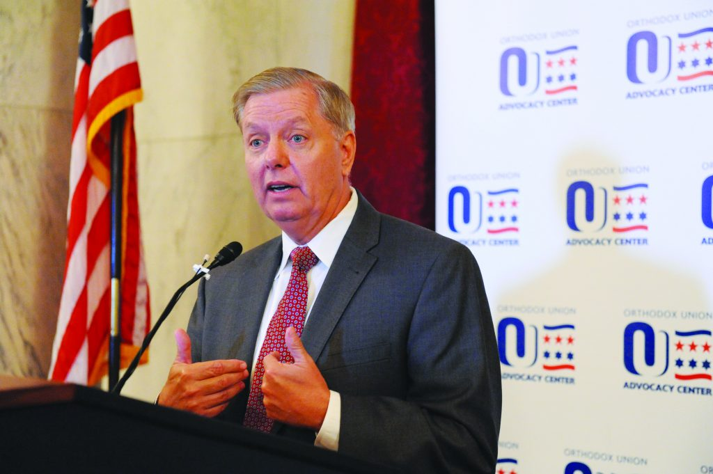 Sen. Graham speaking at the recent OU mission to Washington