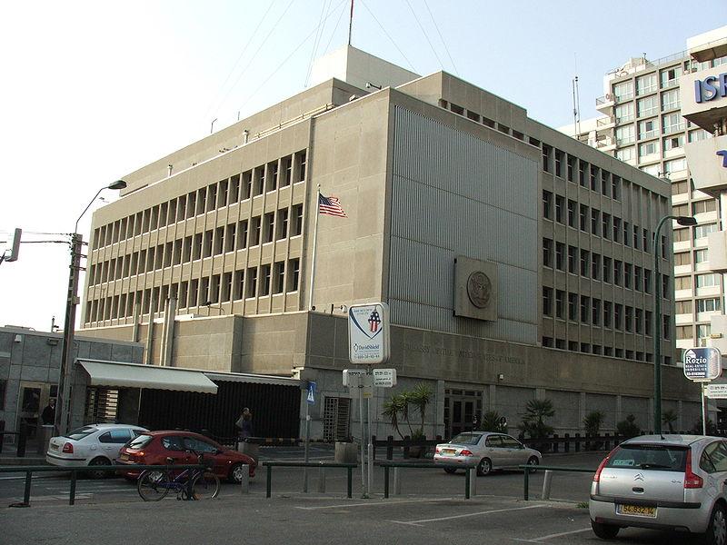 Embassy of the United States in Tel Aviv. (Krokodyl)