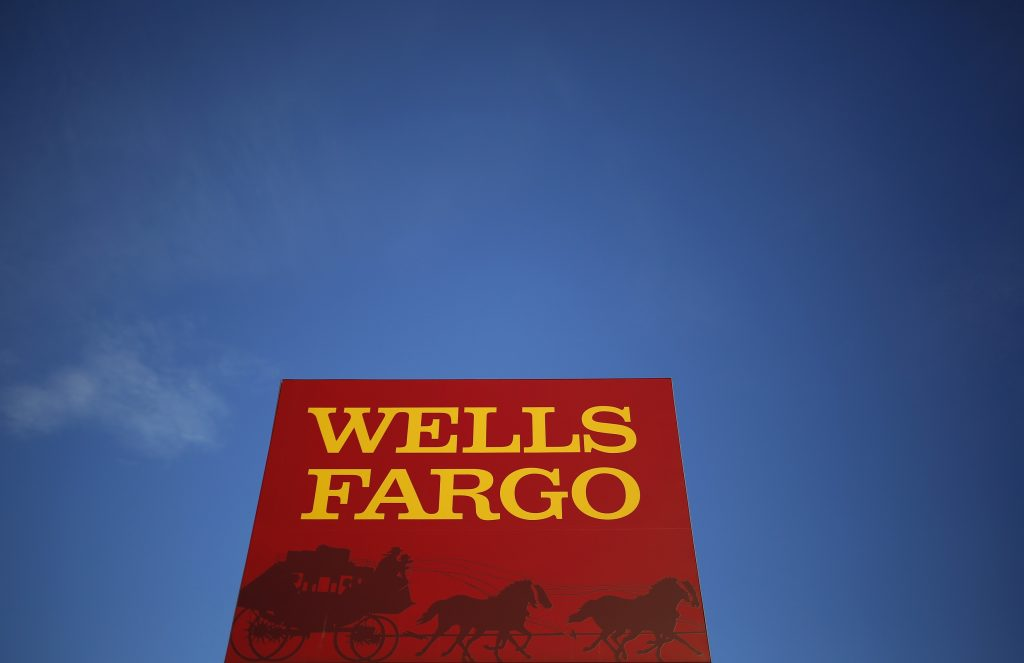 A Wells Fargo branch is seen in the Chicago suburb of Evanston, Illinois. (Jim Young/Reuters/File Photo)