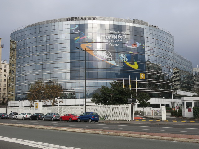 Renault headquarters in Boulogne-Billancourt, France. (Tangopaso)