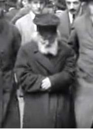 A picture of the Chofetz Chaim at the first Knessiah Gedolah in 1923 in Vienna.