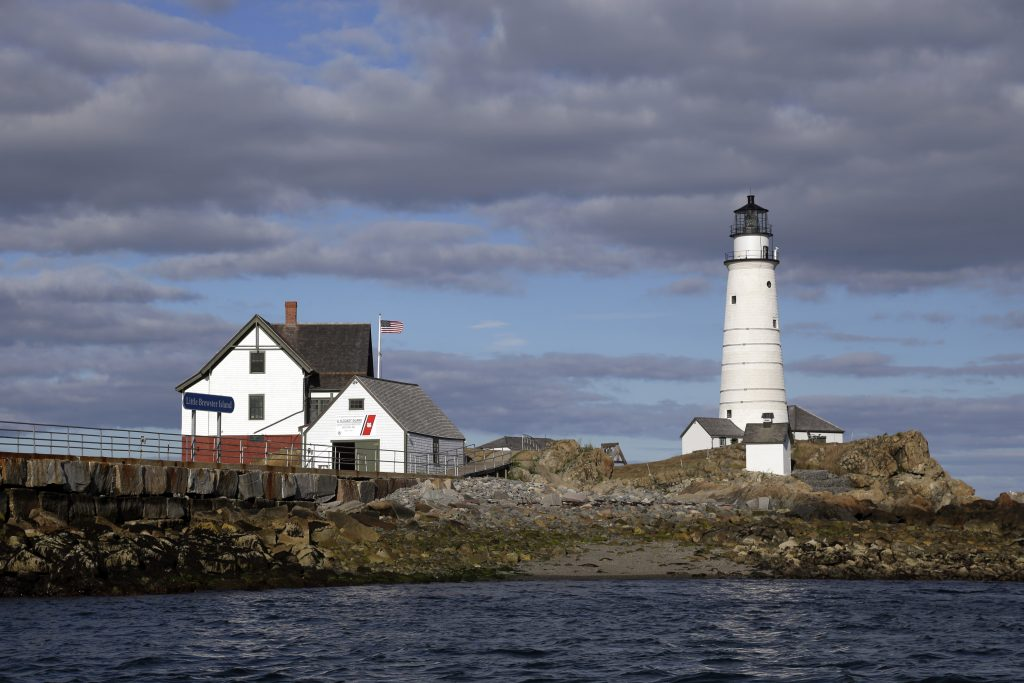 Boston Light sits on Little Brewster Island in Boston Harbor. (AP Photo/Elise Amendola, File)