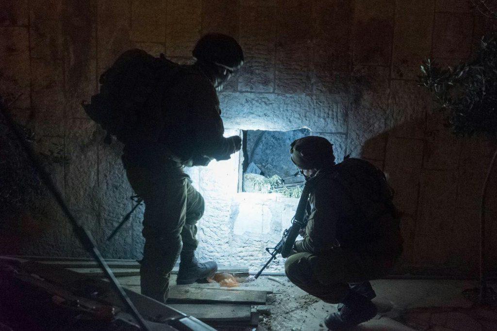 IDF soldiers at the overnight raid. (IDF Spokesman)