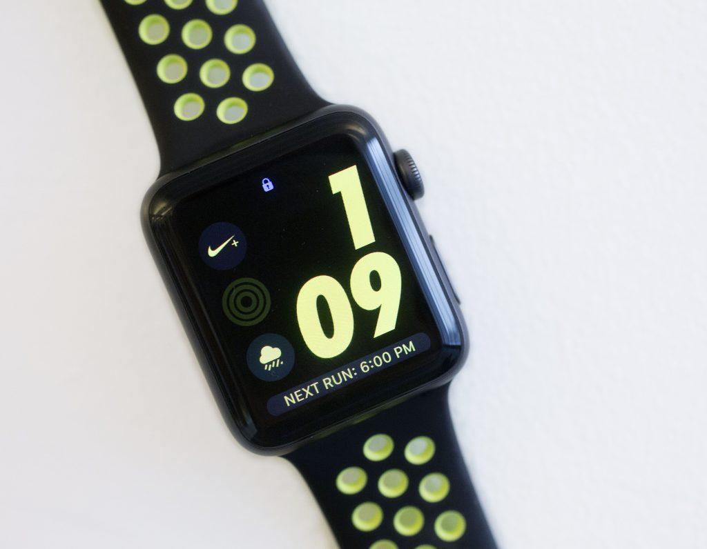 The Apple Watch Nike Plus. (AP Photo/Mark Lennihan)