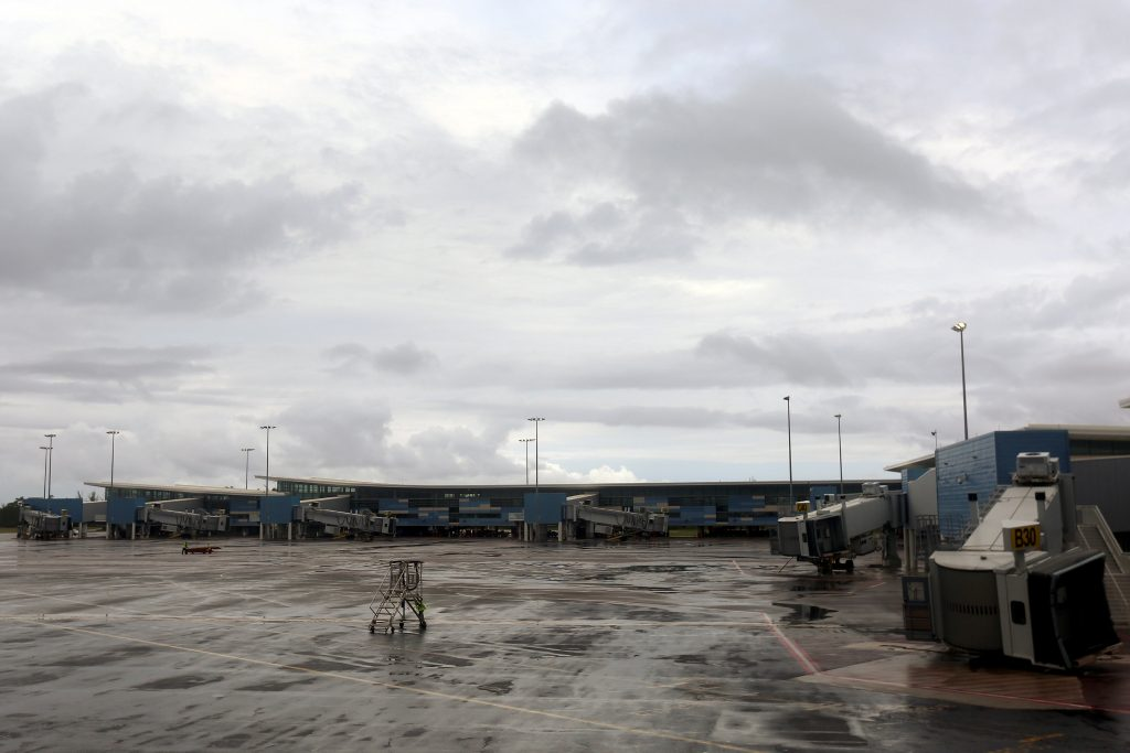 Empty airport gates are pictured at Lynden Pindling International Airport after airlines had removed all their airplanes in preperation for Hurricane Matthew in Nassau, Bahamas October 5. (Carlo Allegri/Reuters)