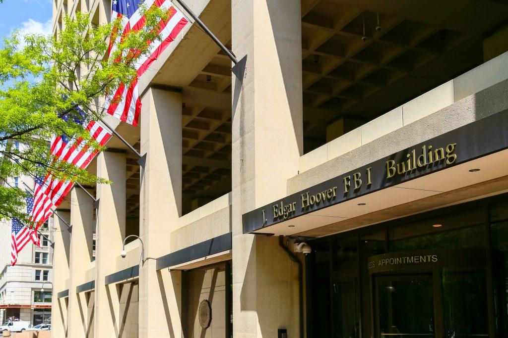 The J. Edgar Hoover FBI Building in Washington DC.