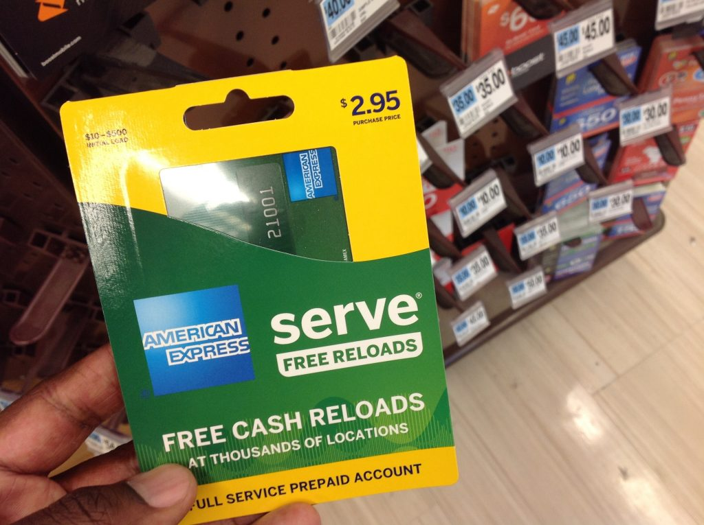 An American Express Serve prepaid debit card for sale at a store, in New York. (AP Photo/Swayne B. Hall)