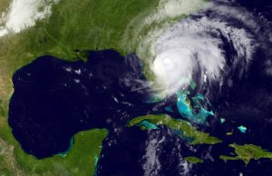 This satellite image shows Hurricane Matthew moving past Florida's Atlantic coast early Friday. (National Oceanic and Atmospheric Administration via AP)