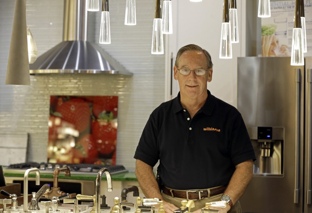 Ken Wertz, president of Wilkinson Supply, in the company's showroom. (AP Photo/Gerry Broome)