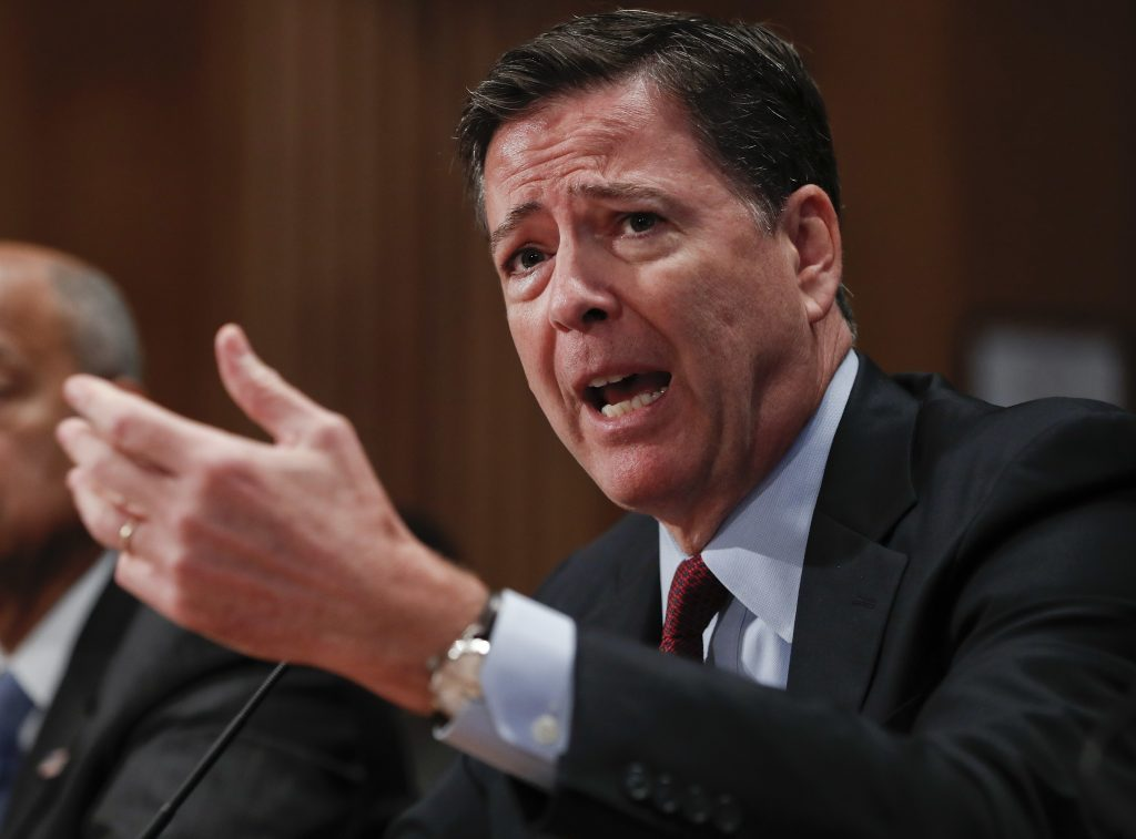 FBI Director James Comey testifies on Capitol Hill last month. (AP Photo/Pablo Martinez Monsivais, File)