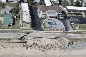 Storm damage from Hurricane Mathew in Flagler Beach, Fla., on Saturday. (AP Photo/Chris O'Meara)