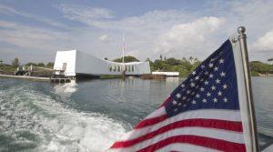 The USS Arizona Memorial at Pearl Harbor, Hawaii. (AP Photo/Eugene Tanner, File)