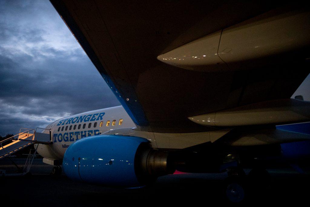 Hillary Clinton's campaign plane. (AP Photo/Andrew Harnik)