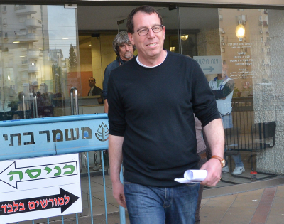 Boaz Harpaz seen leaving the Magistrate's Court in Rishon le Tzion on March 18, 2014, Photo by Yossi Zeliger/FLASH90