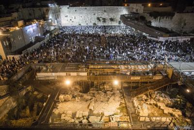 Erev Yom Kippur slichos as the Kosel, September 20, 2015. Photo by Hadas Parush/Flash90