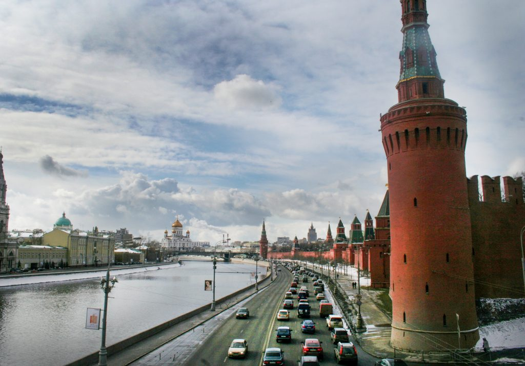 View of  the large cathedrals in the Kremlin, situated by the Moscow river, in Moscow, Russia, March 13, 2012. Photo by Moshe Shai/FLASH90