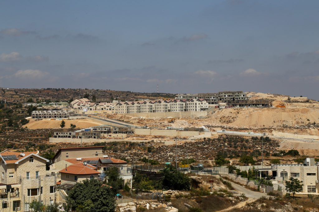 View of new housing units in Givat Tamar, in Efrat, Israel. (Gershon Elinson/Flash90)