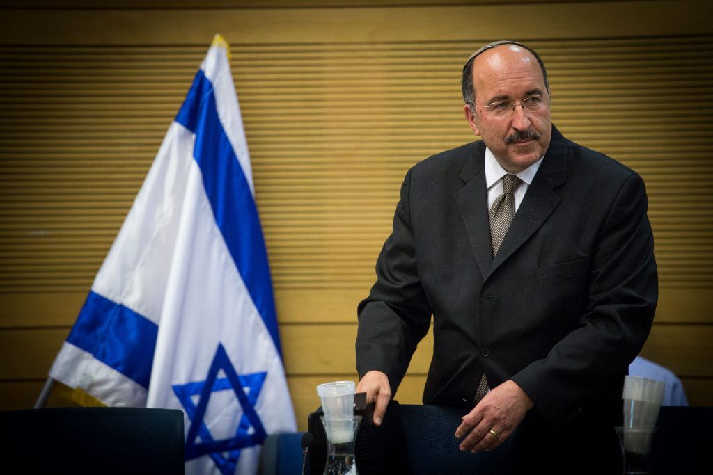 Outgoing Director-General of the Israeli Ministry of Foreign Affairs Dore Gold. (Yonatan Sindel/Flash90)
