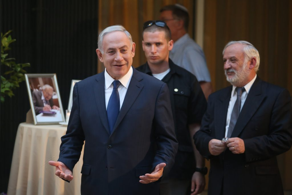 Israeli Prime Minister Binyamin Netanyahu at the PM's official residence on Thursday. (Marc Israel Sellem/POOL)