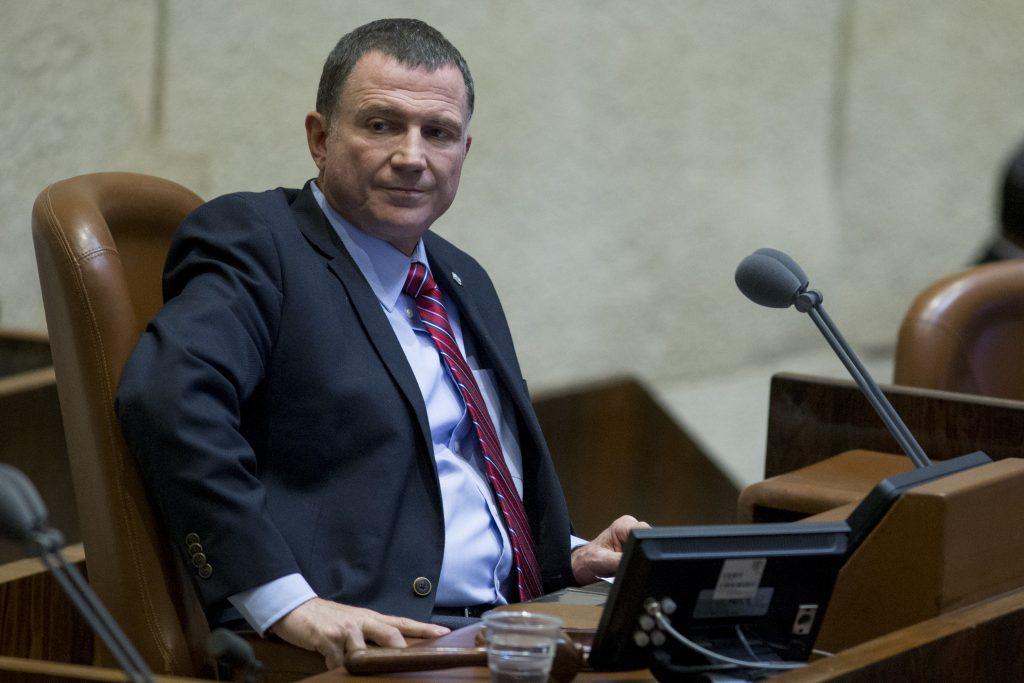 Knesset speaker Yuli Edelstein. (Yonatan Sindel/Flash90)