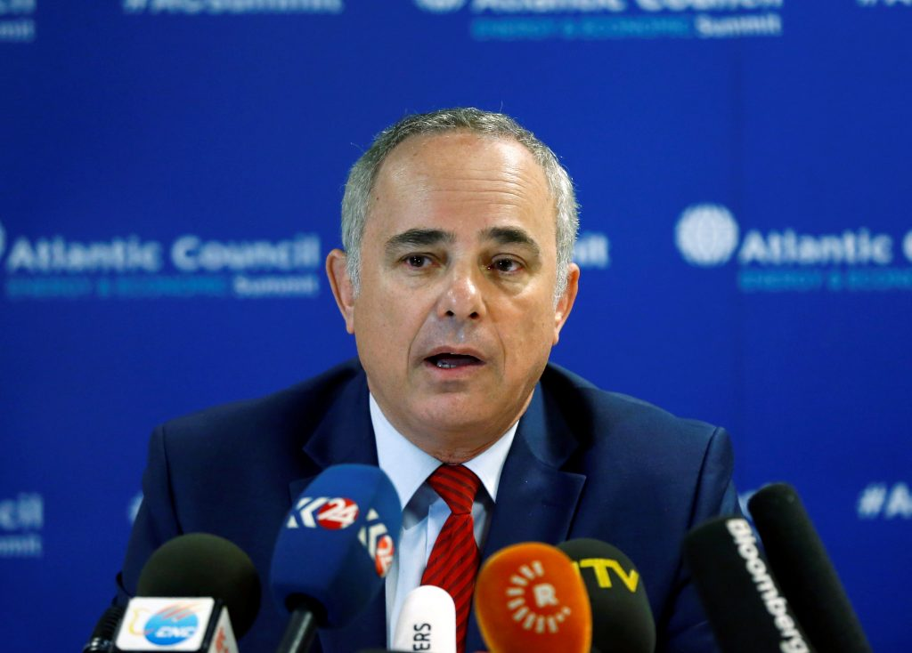 Israeli Energy Minister Yuval Steinitz attends a news conference after their meeting with Turkish Energy Minister Berat Albayrak in Istanbul, Turkey, October 13, 2016. REUTERS/Osman Orsal TPX IMAGES OF THE DAY