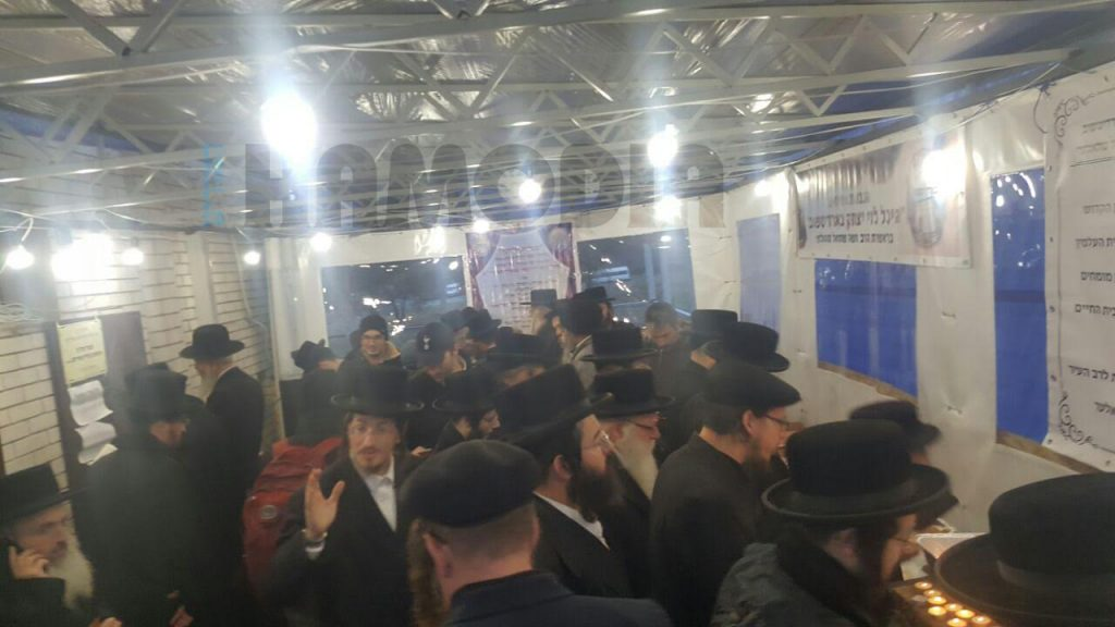 At the kever of Reb Levi Yitzchak in Berditchev, Ukraine, Thursday. (Uman Express)