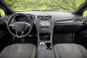 The cockpit of the 2017 Ford Fusion Sport. (Ford)
