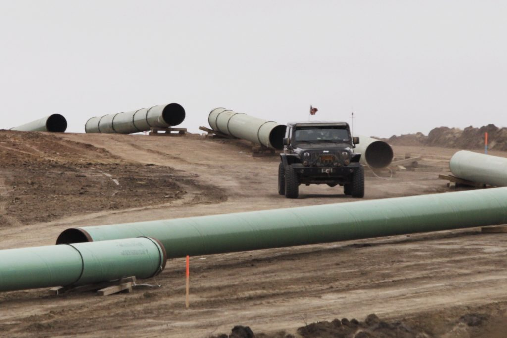 Pipes at a Dakota Access Construction site near the town of Cannon Ball, North Dakota. (Reuters/Josh Morgan)