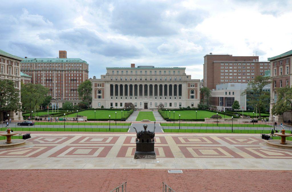 The Columbia University Campus in Upper Manhattan.